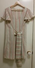 NEW Flutter sleeve tie waist Striped dress size 12-14