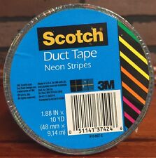 Scotch Duct Tape 1.88 X 10 Yards Neon Stripes (910-NST-C) New Stock 492