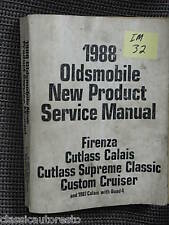 88 Olds New Product Service Manual-Firenza/Cutlass etc.