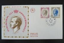 MONACO PREMIER JOUR FDC YVERT  847+849     RAINIER III      0,60+1,10F      1971