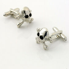 Skull and Crossbones Pirata Cufflinks Gemelos 10665