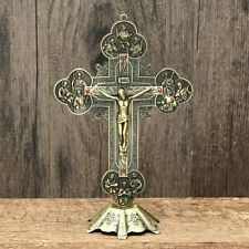 Church Relics Crucifix Jesus Christ On The Stand Cross Wall Crucifix Antique