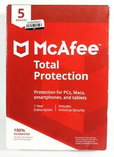 McAfee 1 Year Total Protection - 5 Devices (2017) New PC Mac Smartphone Tablet