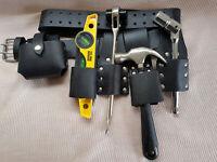 SCAFFOLDING LEATHER BELT Heavy Duty DIY Full Tool set ratchet Spanner 19/21