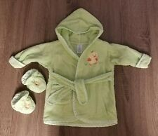 Spasilk Baby Bath Robe And Shoes 0-9 Months Green
