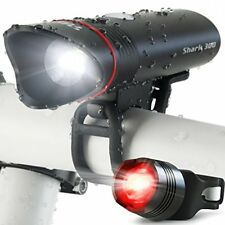 SUPERBRIGHT USB Rechargeable Bike Light  Lumens Cycle Torch Shark