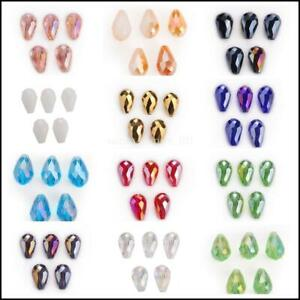 Crystal Beads Loose Teardrop Faceted Glass 20pcs Wholesale 18x12mm Spacer Bulk#