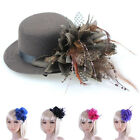 Women Hair Jewelry Party Hair Clip Charm Fashion Hat Feather Bride Girl Gift