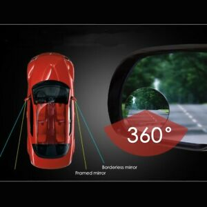 1x Blind Spot Mirror Auto 360° Wide Angle Convex Rear Side View Car SUV Truck