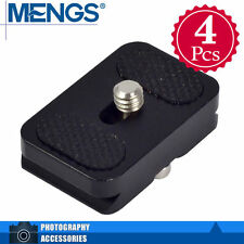 MENGS 4Pcs PU-25 Quick Release Plate Aluminum Alloy For DSLR Camera & Arca-Swiss