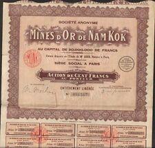 Mines d'OR de NAM KOK (INDOCHINE) (N)