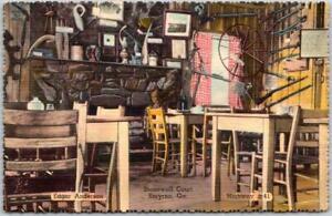 1940s SMYRNA, Georgia Postcard STONEWALL COURT Restaurant View Linen Unused
