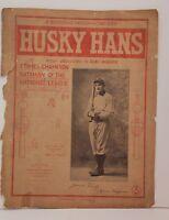 HONUS WAGNER (d.1955) HOF 1904 Husky Hans by William Hartz Sheet Music RARE! 15X