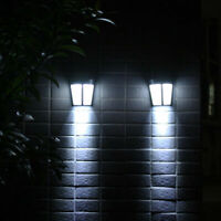Solar Power 6 LED Path Way Wall Landscape Mount Garden Yard Lamp Light Fence USA