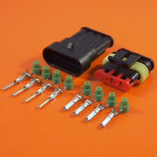 4 Way Genuine AMP Superseal Electrical Connector For Wire Size 0.3mm-0.5mmsq