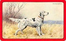 Dog Paris Etching Society Single Swap Playing Card Vintage Blank Back