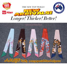 AMIGO Twilly Multi-Use Mini Scarf Wrist Head Band Bag Ribbon Bow Tie Wrap BXZ