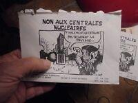 Ancienne Enveloppe Illustrée Affiche NON AUX CENTRALES NUCLEAIRES I D Coop 1978