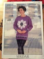 Womens Knitting Patterns.jumpers.size 28-40 inch bust.DK.Sirdar.graph pattern