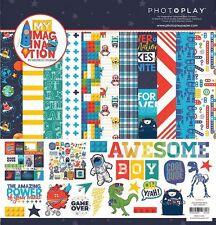 "PHOTO PLAY ""MY IMAGINATION"" 12X12 PAPER BOYS TOYS LEGOS CHILD  SCRAPJACK'S PLACE"
