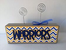NEW NBA Golden State WARRIORS Handcrafted Wood Photo / Memo Holder gift wrapped