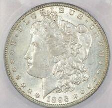 1896-O Morgan Silver Dollar ICG AU58 Beautiful flashy coin!
