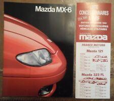 MAZDA MX-6 orig 1992 French Mkt Full Sales Brochure + Price List - 2.5i V6 24v