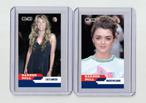 Maisie Williams rare MH Barber Poll #'d 2/3 Tobacco card no. 495