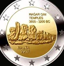 MALTA 🇲 🇹 da 2 EURO 2017 COMMEMORATIVO Hagar qim Tempio NUOVO bunc F. Roll