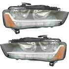Headlight Set For 2013 2014 2015 2016 Audi A4 Left and Right With Bulb 2Pc