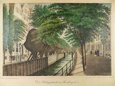 Hamburgo rödingsmarkt Peter suhr altkol. litografía vista 1842 h22