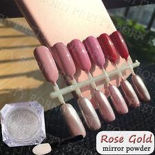 Nail Glitter Mirror Powder Dust Rose Gold Silver Pigment Metallic Nail Art DIY