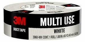3M Scotch Duct Tape, 1.88-Inch by 60-Yard - White, 1 Pack 1 Pack, White