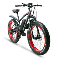 "26"" Electric Bike Fat Tire Beach Snow Shimano 750W 48V 13AH Lithium Battery"