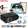 4K Wifi Android 6.0 Bluetooth 3D Projector 1080p Full HD LED Home Theater HDMI S