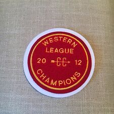 "Varsity Chenille Western League 2012 Patch 5"" diameter"
