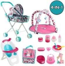More details for deao kids deluxe 4 -in-1 16 pieces baby doll role play set (doll not included)
