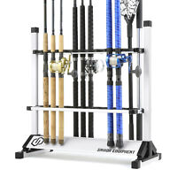 """SAVIOR"" Fishing Rod Rack Floor Stand Garage Pole Holder Home Display Organizer"