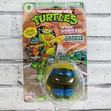 TMNT 1991 LEO Sewer Sports Balls WORN PACKAGE Teenage Mutant Ninja Turtles