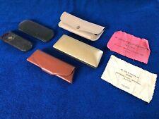 Vintage Lot Eyeglasses sunglasses Case antique gold cleaning cloth mid century â�