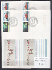 AAT FDCs: SET OF 4 BASE CANCELS    1991  TREATY