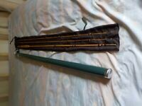 An Elkhorn Rod Company 7' 4 Weight 2 Piece, 2 Tip Bamboo Fly Rod w/Bag & Tube!