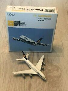 Herpa Wings 1:1000 Airbus A380-800 Lufthansa D-AIMA 570244 (AY39-S10B14)