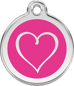 """Red Dingo """"Tribal Heart"""" Engraved Dog & Cat ID Tag - Free Engraving - 11 Colours"""