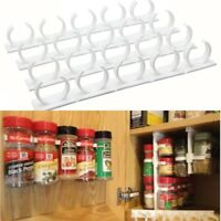 Condiment Spice Gripper Strip Jar Storage Shelf Rack Holder Wall Cabinet Mount