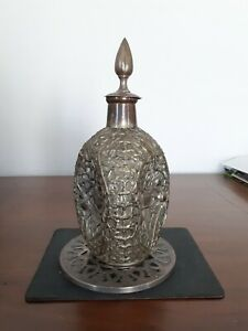 Chinese Antique  Silver  Plate Wine Bottle