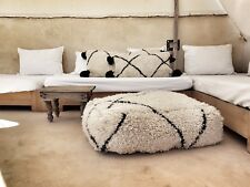 large vintage beni ouarain moroccan pouf bohemian bedding handmade africa art