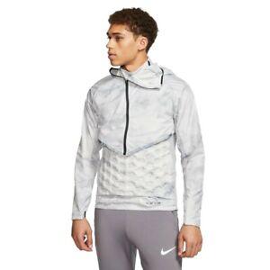 NEW Nike Running Jacket and Vest Mens M Grey Platinum Tint 2-Piece Kit $275
