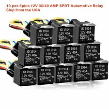 12V 30/40 AMP SPDT Automotive Relay with Wires & Harness Socket (10 pack)  U.S.A