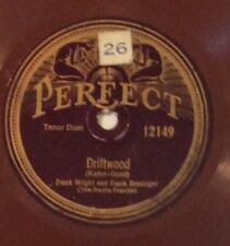 The Radio Franks on 78 rpm Perfect 12149: Driftwood/I've Got a Feeling V